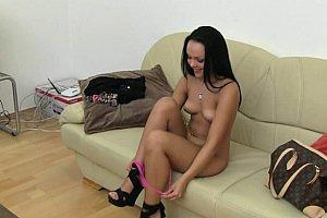 ariana marie cute sexy teen masturbating with dildo