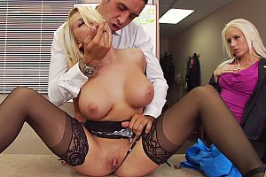 sofia cucci and busty jarushka ross playing with dildo